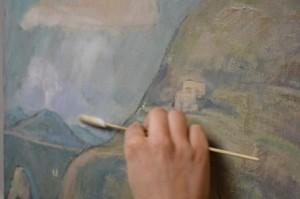Opspænding af maleri